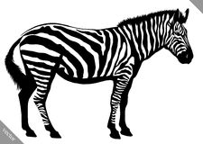 De zwart-witte lineaire verf trekt gestreepte vectorillustratie Royalty-vrije Stock Fotografie