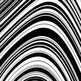 De zwart-witte Optische Abstracte Achtergrond van de Golfstreep royalty-vrije illustratie