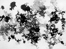 De zwart-witte Samenvatting van de Inkt Stock Fotografie