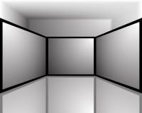 De zwart-witte schermen Stock Afbeeldingen