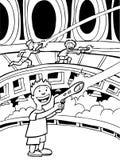 De zwart-witte Spelen van Lasertag - stock illustratie