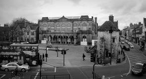 De zwart-witte stad van York - Stock Afbeelding