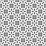 De zwart-witte ster van het de meetkundepatroon van Safari Pattern Vector moderne naadloze, zwart-witte samenvatting stock illustratie