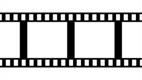 De Zwart-witte Videolengte van de filmstrook stock illustratie