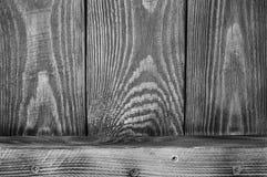 De zwart-witte Weefselachtergrond van houten raad schikte verticaal en één horizontale raad royalty-vrije stock fotografie
