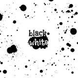 De zwarte abstracte achtergrond van inktplonsen vector illustratie