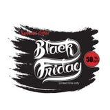 De zwarte abstracte banner van de vrijdagverkoop Black Friday-de temperaturen van het verkoopontwerp Royalty-vrije Stock Afbeeldingen