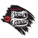 De zwarte abstracte banner van de vrijdagverkoop Black Friday-de temperaturen van het verkoopontwerp Royalty-vrije Stock Fotografie