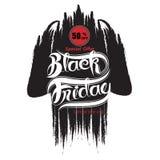 De zwarte abstracte banner van de vrijdagverkoop Black Friday-de temperaturen van het verkoopontwerp Stock Foto