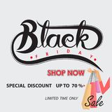 De zwarte abstracte banner van de vrijdagverkoop Black Friday-de temperaturen van het verkoopontwerp Stock Afbeeldingen