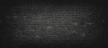 De zwarte Achtergrond van de Bakstenen muur Royalty-vrije Stock Fotografie