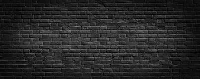 De zwarte Achtergrond van de Bakstenen muur Stock Foto