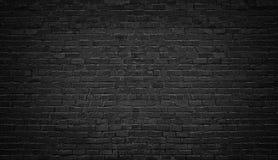De zwarte Achtergrond van de Bakstenen muur textuur donker metselwerk Royalty-vrije Stock Foto's