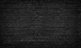 De zwarte Achtergrond van de Bakstenen muur textuur donker metselwerk Royalty-vrije Stock Fotografie