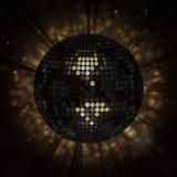 De zwarte achtergrond van de discobal Stock Afbeelding