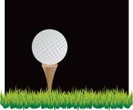 De Zwarte Achtergrond van de golfbal Vector Illustratie
