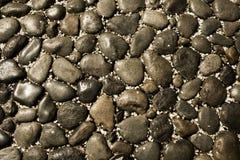 De zwarte Achtergrond van de Steen Royalty-vrije Stock Foto