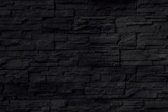 De zwarte achtergrond van de steenmuur Stock Afbeeldingen