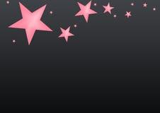 De zwarte achtergrond van de ster royalty-vrije illustratie
