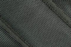 De zwarte Achtergrond van de Textuur van de Stof stock afbeelding