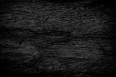 De zwarte achtergrond van de grungetextuur Houten grungetextuur op nood Stock Afbeeldingen