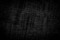 De zwarte achtergrond van de grungetextuur Houten grungetextuur op nood Stock Fotografie