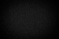 De zwarte achtergrond van het textuurcanvas Stock Afbeelding