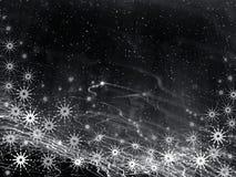 De zwarte achtergrond van Kerstmis Royalty-vrije Stock Afbeelding