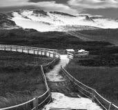 De zwarte & Witte Duinen van het Zand Stock Fotografie