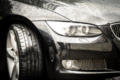 De zwarte auto van de luxe Stock Afbeelding