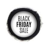 De zwarte banner van de de rondewaterverf van de vrijdagverkoop Stock Afbeeldingen