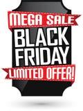 De zwarte banner van de vrijdagverkoop, illustratie Royalty-vrije Stock Afbeeldingen