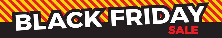 De zwarte Banner van de Verkoop van de Vrijdag stock illustratie
