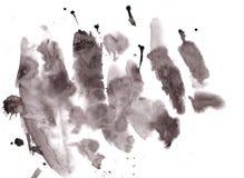 De zwarte banner van de waterverfinkt met retro effect van de grungetextuur Stock Afbeelding