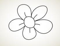 De zwarte bloem van de inktkunst Royalty-vrije Stock Afbeeldingen