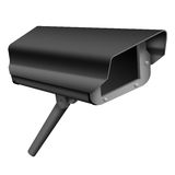 De zwarte Camera van de Veiligheid Stock Afbeeldingen