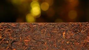 De zwarte Chinese lengte van thee gouden bokeh hd niemand stock videobeelden
