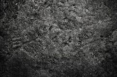 De zwarte concrete textuur kan ons als achtergrond Stock Afbeelding