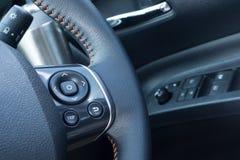 De zwarte controle van het knoopcentrum voor auto Royalty-vrije Stock Afbeeldingen