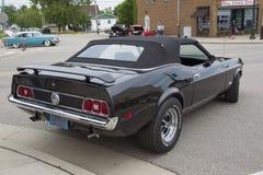 1973 de zwarte convertibele Auto van Ford Mustang Royalty-vrije Stock Foto