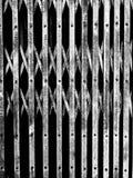 De zwarte deur van de staalrek royalty-vrije stock afbeelding