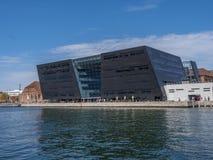De Zwarte Diamant, Koninklijke Deense Bibliotheek Kopenhagen, Denemarken, Sca royalty-vrije stock afbeelding