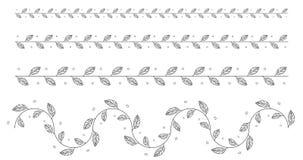 De zwarte doorbladert en brachnes isoleerde reeks stock illustratie