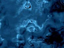 De zwarte en blauwe vreemde vloeibare oppervlakte van de fantasie Stock Fotografie