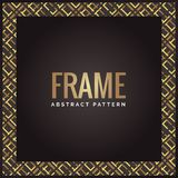 De zwarte en gouden achtergrond van het luxe geometrische abstracte kader vector illustratie