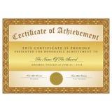 De zwarte en het goud van het certificaatmalplaatje Stock Afbeeldingen