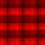 De zwarte en rode achtergrond van de geruit Schots wollen stofplaid Royalty-vrije Stock Afbeelding
