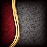 De zwarte en Rode Achtergrond van de Luxe Royalty-vrije Stock Fotografie