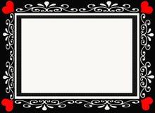 De zwarte en Rode Grens van het Frame van de Ontwerper van het Hart Stock Fotografie