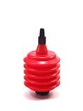 De zwarte en rode ventilator van het de luchtstof van de cameralens Royalty-vrije Stock Foto